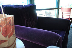 velvet purple chair